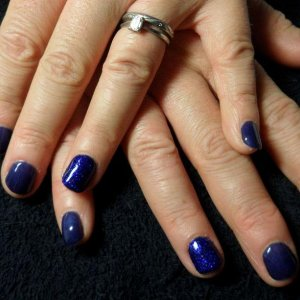 Bio 2012 with bio blue glitter on ring fingers