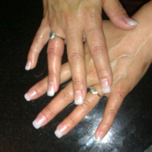 Natural Gel Tips with Gel White French