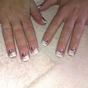 White Tips with Flick Art