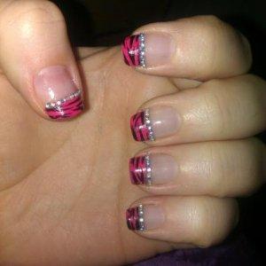 Pink Zebra with Gems