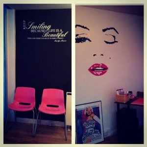 Wall art going up in nail bar now...