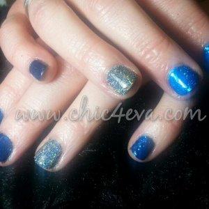 shellac Blue rockstar nails