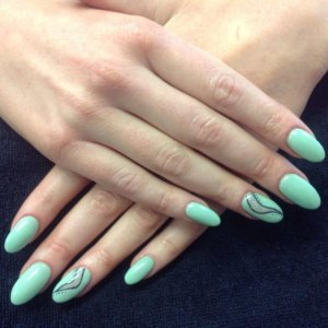 L&P enhancements with denim CN  geode additive with shellac mint convertible carving