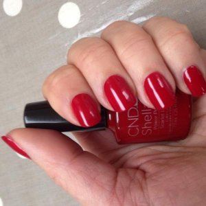 Shellac Scarlet letter for Valentines Day