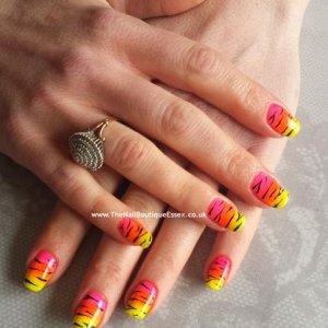Irresistible neon nail shadows with CND Shellac