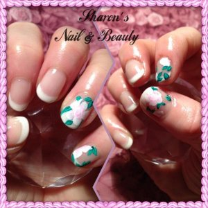 gelish with one stroke art