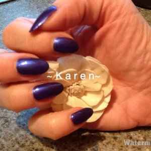 Bio overlays with Purple Purple Vinylux ... what a gorgeous colour it is too!