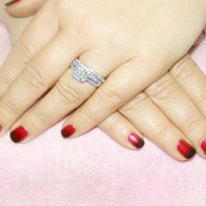 """Pigment Fade Shellac in """"Red Baroness"""" with a black additive fade"""