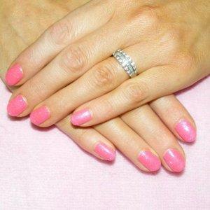 "Twinkle Shellac in ""Pink Bikini"" and ""Hot Pink"" twinkle additive"