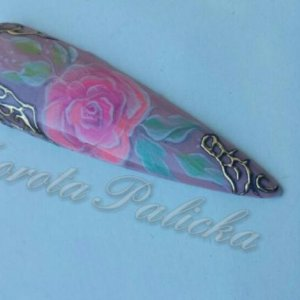 #dorotapalicka #pastelflowers #newtechniquenailart #jewellerynailart #transferfoil