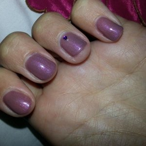 Rose damask with pink ice over the top, love this colour, with the pink layered on top. Gellux