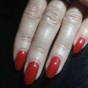 Hard gels with gelish finish