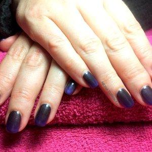 CND Black Onyx with purple pigment