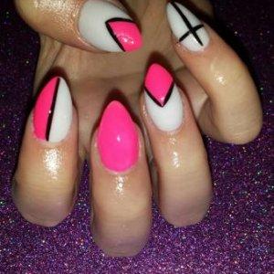 Nsi White Acrylic with Pink Gelish