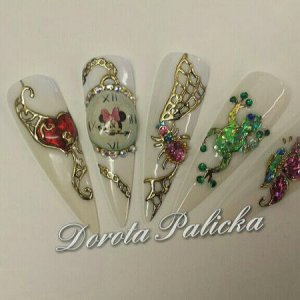 Nail Perfect foil design gel, spider liquid stone, clock and foil nail art