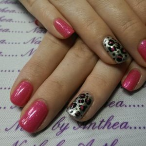 Princess with melting mercury/licquorice/princess leopard accent nails