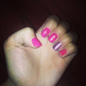 Glitter and pink