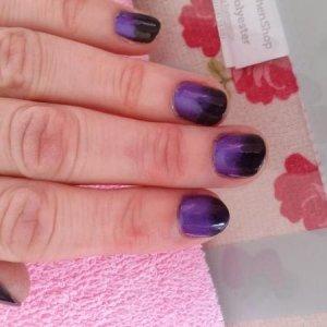 black onyx base colour with purple 'colour shack' additive ombre fade
