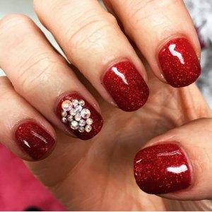 Shellac Ruby Ritz with Swarovski crystal ellements