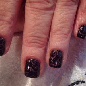 Shellac with additive stamping