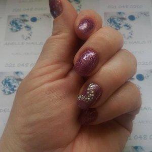 Purple Glitter Acrylics