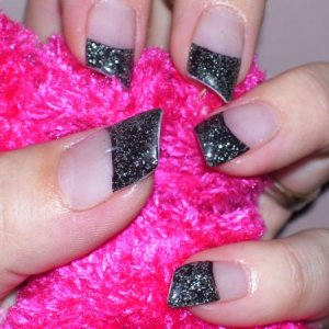 black glitter lipstick shape - I'm wearing these at the moment