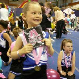 my daughter Hannah after her 1st cheerleading competition win at 1st place :)