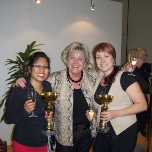 Left to right: Winner of open class (ONS Sweden), Finnish ONS importer and educator, Me the winner of junior class