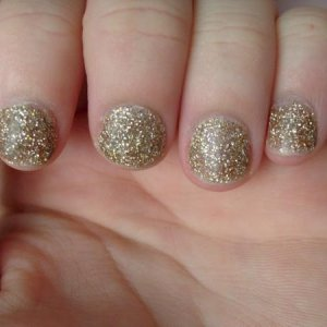 gold glitter nails l&p overlays on me