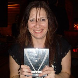 Emma with her award, well done hun!! xxx
