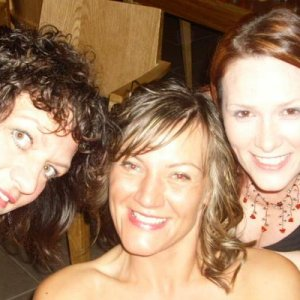 Bev, Andrea and me.