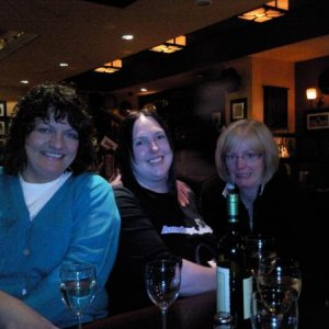 Bev (Bev Rose) Kirsty (Amythist Angel) Hazel (Femmefan) On the Friday night at the Chilli bar after a couple of wines!!!