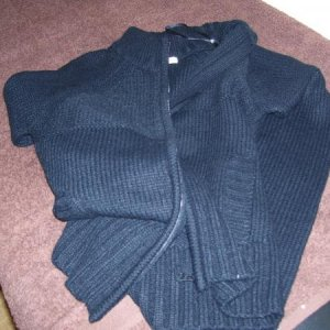 I bought a work cardi (woohoo!) cos someone borrowed mine and hasn't brought it back.