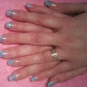 My third set of nails, i used the white tips and the clear overlay