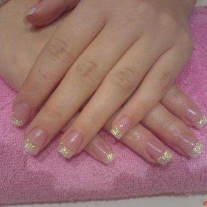 Fuschia /Pink glitter Acrylic