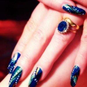 Electric Blue Strand Glitter
