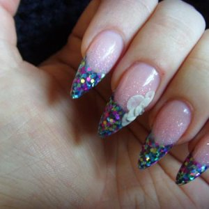 pink and white stones