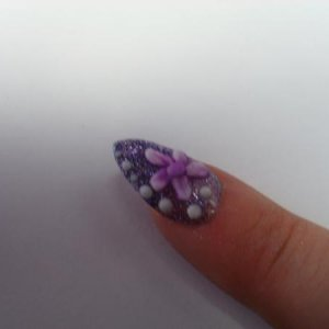 I painted this lady's nails and stuck on some diamante for her work xmas night out and she loved them!