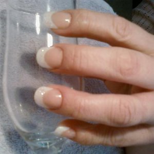 My nails with my trophy