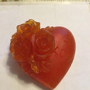 Heart Shaped Soap With Roses