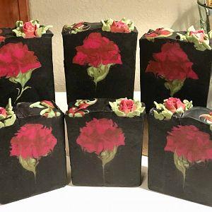 Charcoal Rose Soap :)
