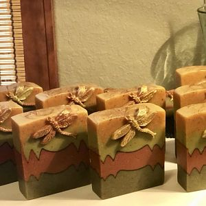 All Natural Turmeric, Sea Clay, French Green Clay and Rose Clay Soap :)