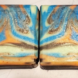 A Sampling of beveled bars from the Spin Swirl -> Spoon Swirl - Brother soap