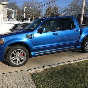 Todd Z blue suspension work