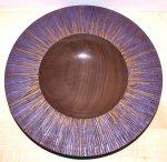 painted carved walnut bowl.jpg