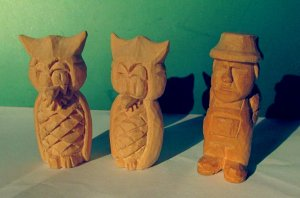 Two Owls and Farmer.JPG