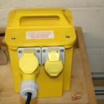 yellow 100v transformer