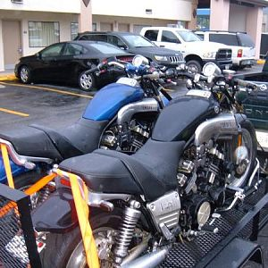 Bikes loaded after Thunder in the Valley