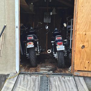 Bikes parked for winter