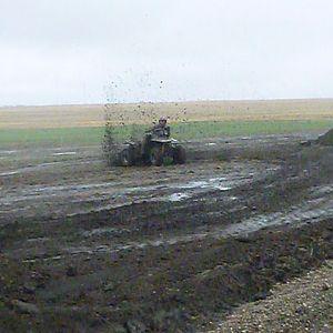 Little mud after work